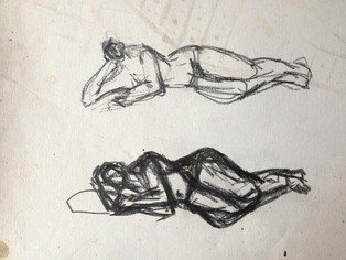 Sleeping Mother and Child  Sketch for Resting Figure, 2014