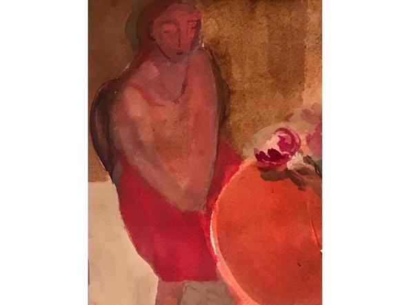 Red Peonies (detail )