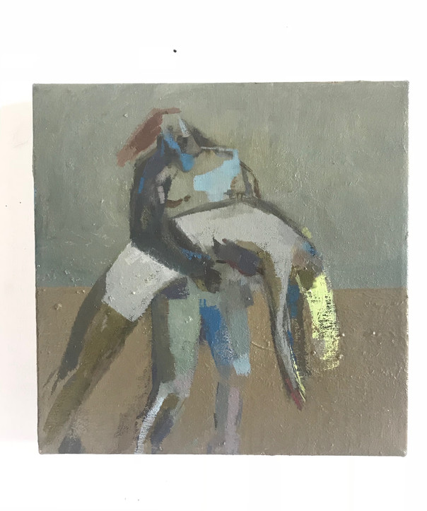 The Death of Hector , oil on canvas , 25 cm x 25 cm