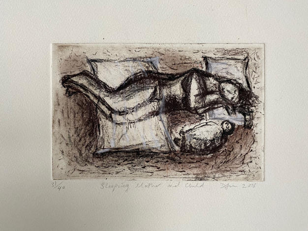 Sleeping Mother and Child 1 2015