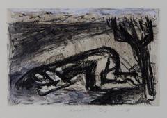 Narcissus, 2018 Pencil, conte, charcoal