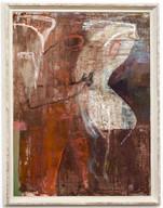 Mixed media, oil on canvas  141 x 105cm
