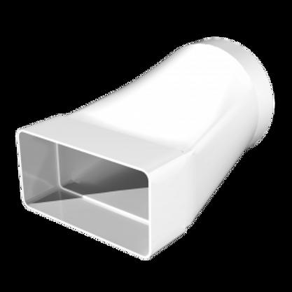 620СП12,5КП Соединитель эксцентриковый, прямоугольного воздуховода 60х204 с Ø100