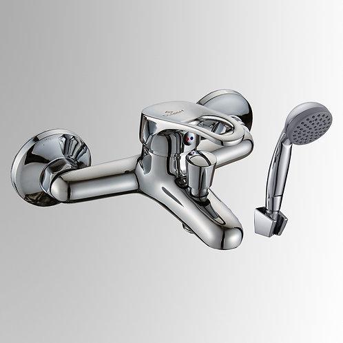 Смеситель для ванны с коротким изливом, переключатель кнопочный, одноручный. Б30