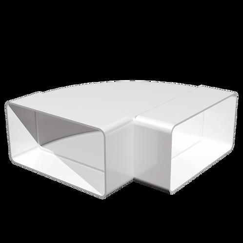 511КГП Колено горизонтальное 90° для прямоугольных воздуховодов 55х110