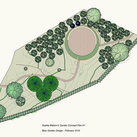 Sophie Watson's Garden, Isle of Wight - Concept