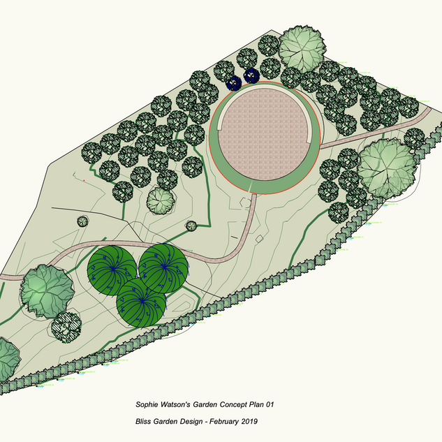 Sophie Watson's Garden, Isle of Wight - Concept