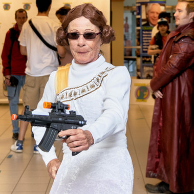 Princes Leia in action