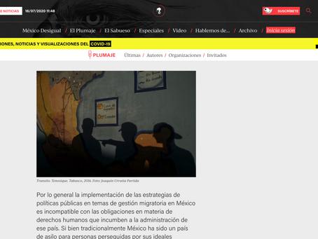 Artículo Publicado en Animal Politico, escrito por Mirra Alesso.