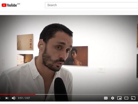 Entrevista durante la exposición de Enfrenta en el MUSA