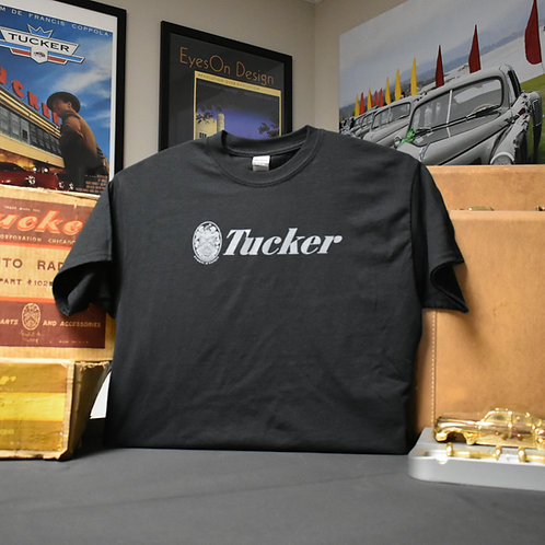 Black Tucker Logo T-Shirt - S to 3XL