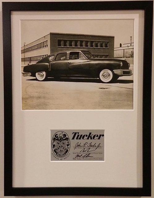 Limited Edition framed Tucker Car Tin Goose print