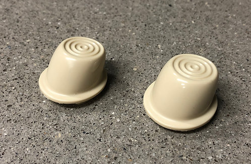 1946-1951 Willys Jeep Wagon Delivery Truck Interior Ivory Door Button Pair