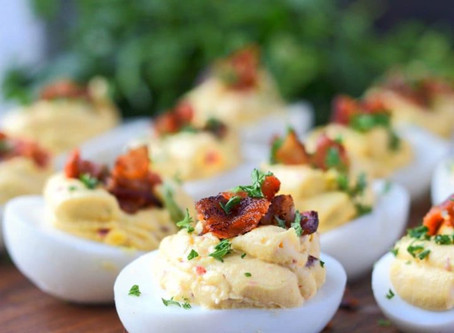 Eat This! Chipotle Bacon Cheddar Deviled Eggs