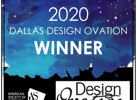 Dallas Design Ovation Win!
