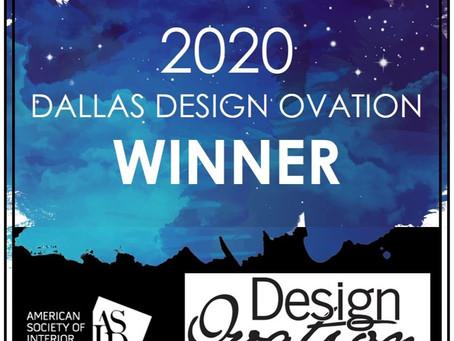 Dallas Design Ovation Win!