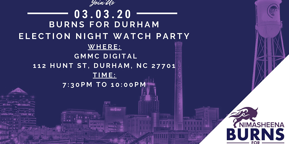 Election Watch Party for Burns For Durham