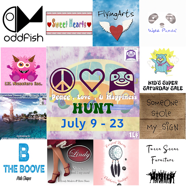 Peace Love Happiness Hunt Poster