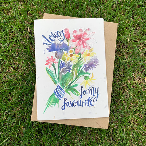 Plantable Card - Flowers for my Favourite