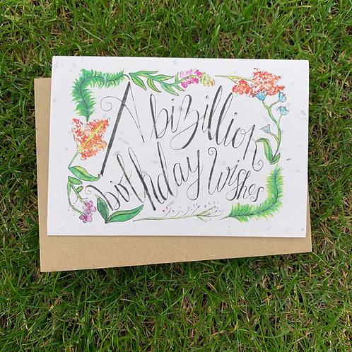 Plantable Card - A Bizillion Birthday Wishes