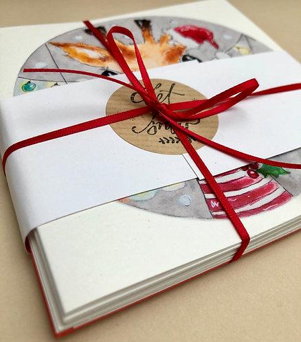 Animal Christmas Cards 6 Pack