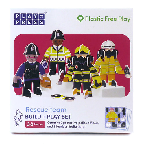 Playpress Toys - Rescue Team Character Pack