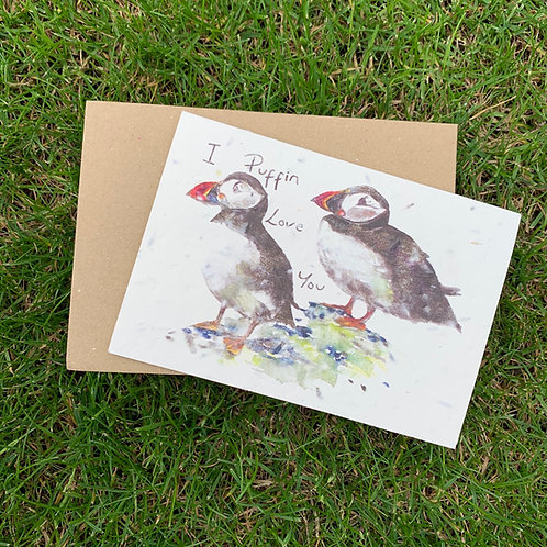 Plantable Card - I Puffin Love You