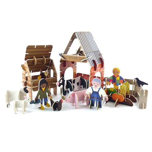 Playpress Toys - Farmyard Play Set