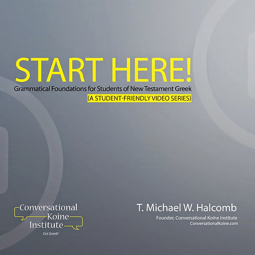 Start Here! Grammatical Foundations -Audio