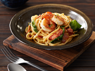 YELLOW SAUCE SHRIMP LINGUINE