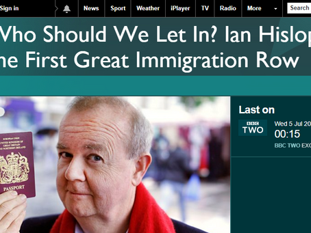 Who should we let in?  Ian Hislop on BBC 2.