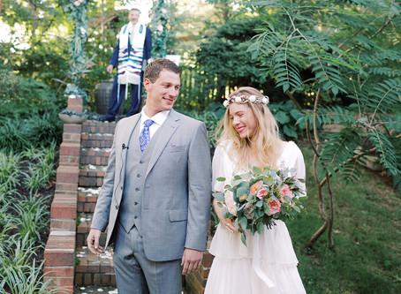 Annie + Josh's Boho Backyard Wedding