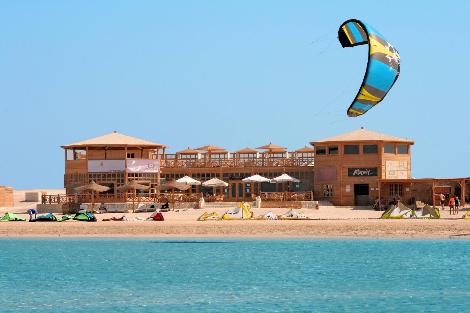 Kite center en Soma Bay