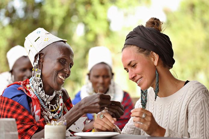 Pasando el día con los masai