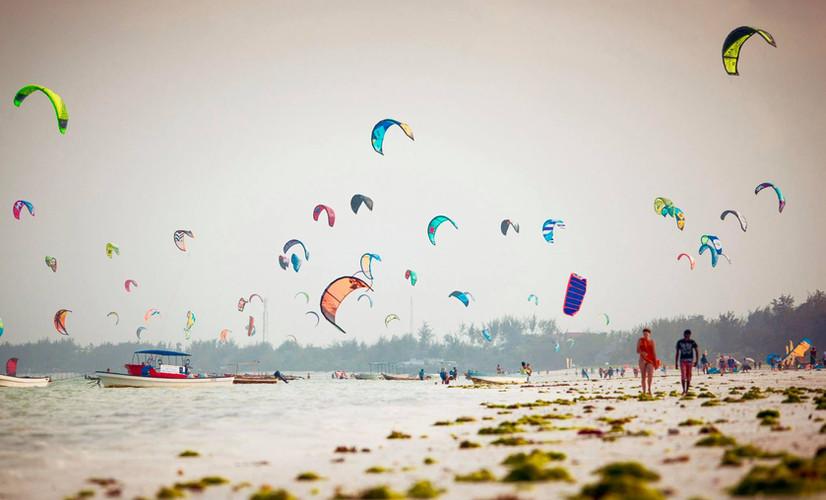 Kitesurfing en Paje, Zanzíbar