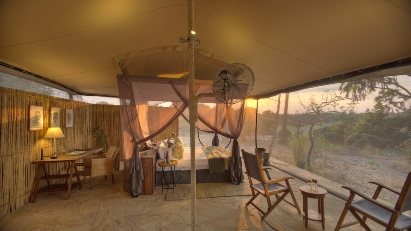 Tented camp in Selous