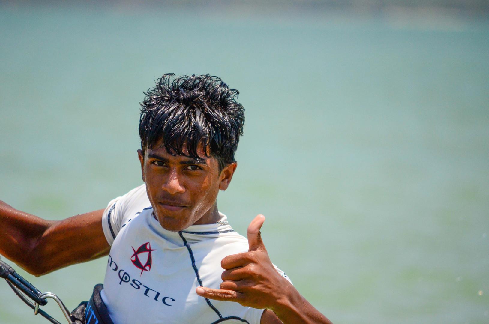 Kitesurf en Kalpitiya, Sri Lanka