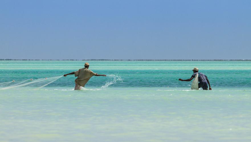 Pescando en Zanzíbar