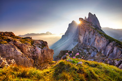 Amazing view on Seceda peak