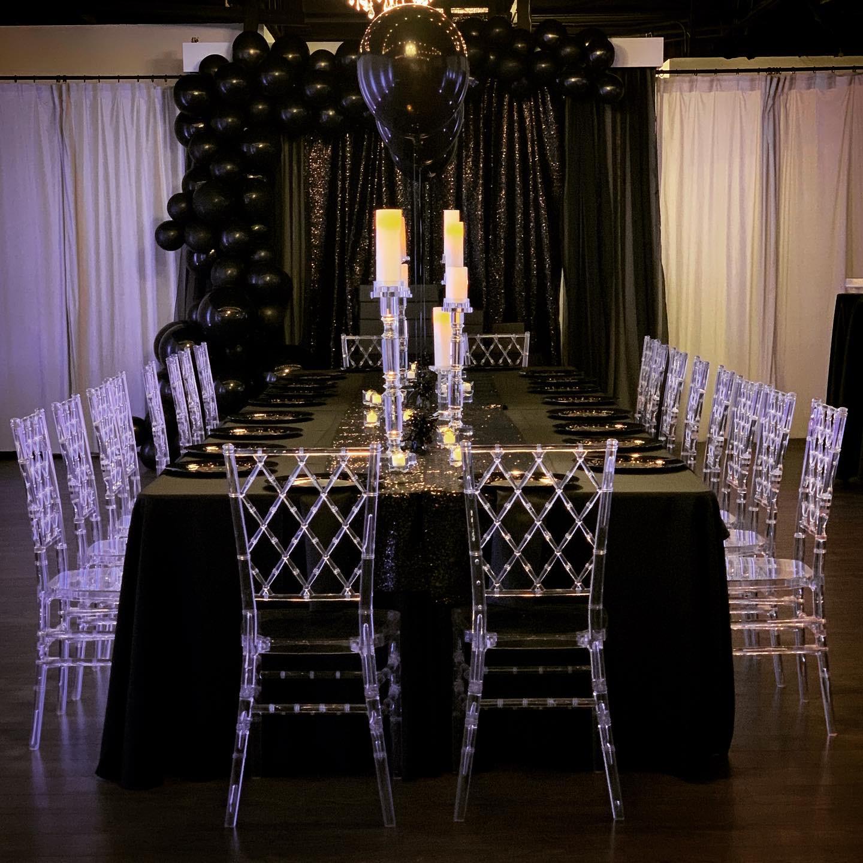 Engagement party Black decor
