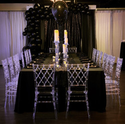 Engagement party Black decor