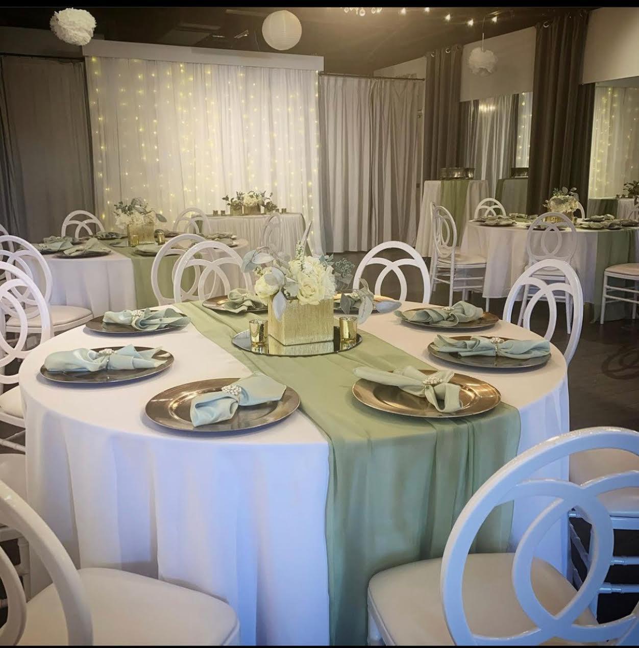 Sage and white wedding