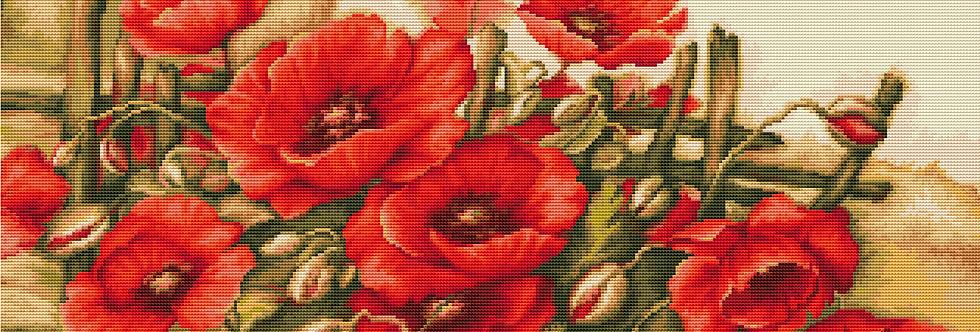 490 Peonies - Cross Stitch Pattern