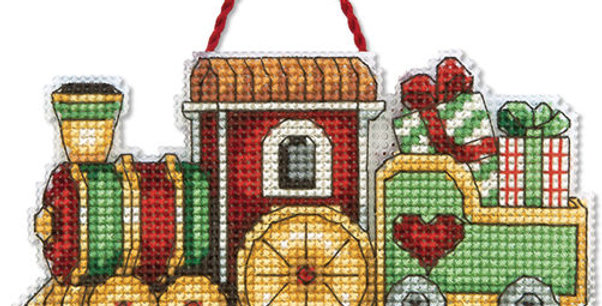 Train Ornament | Counted Cross Stitch