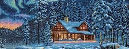 Aurora Cabin | Counted Cross Stitch | DIMENSIONS