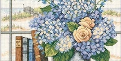 Hydrangeas and Shells | Counted Cross Stitch | DIMENSIONS
