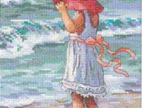 Girl at the Beach | Counted Cross Stitch | DIMENSIONS