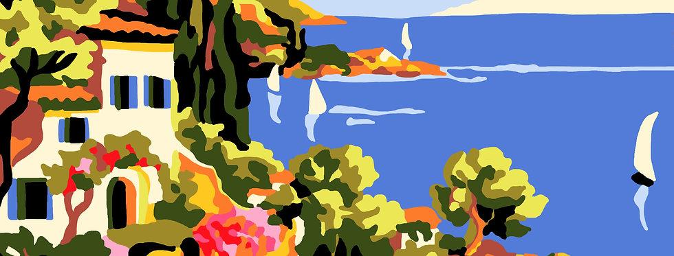 PT64 - Landscape | Printed Needlepoint