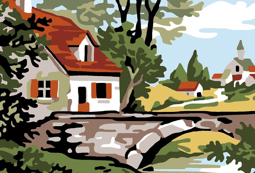 PC78 - Landscape | Printed Cross Stitch