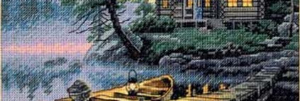 Morning Lake | Counted Cross Stitch | DIMENSIONS